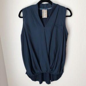 Dolan Navy Blue Sleeveless Blouse - size small
